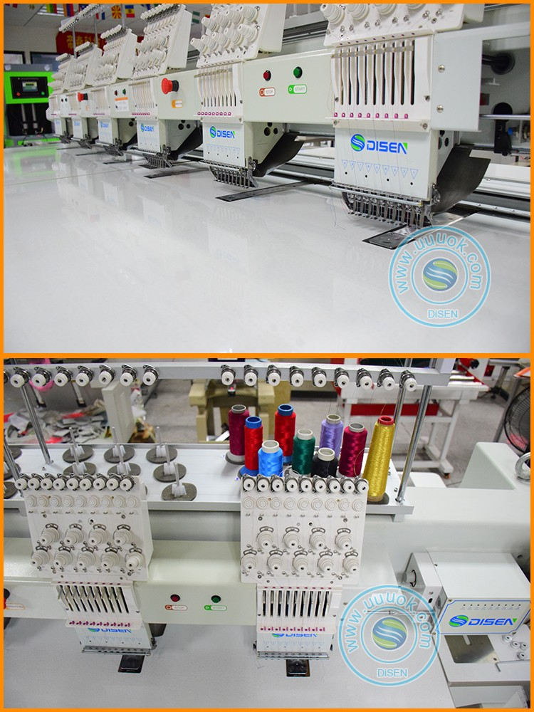 Automatic industrial 10 12 20 21 24 28 42 multi head flat sequin beads logo aari 6 heads computer embroidery machine with prices