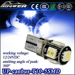 ERROR FREE T10 501 W5W 194 CANBUS 5SMD LED BULB LIGHT NO OBC LAMPS led canbus car bulbs