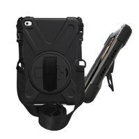 Hot selling Hand Strap Handle Shoulder Belt Carry 360 Rotating Heavy Duty Armor Tablet Case For iPad mini 4