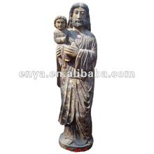 Jesus Christ Sculpture, Wood Carved Religious Statue