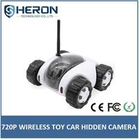 Heron 2016 wireless hidden camera toy type car wifi CCTV security 720P camera support wireless charging pad
