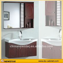Bath Vanity with side cabinet and ceramic top (NSVS-1824)