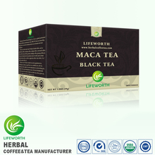 Lifeworth wholesale best black tea brand blood fat reducing maca extract black tea with sample free by 3 days supply