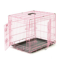 folding dog crate wire mesh pet cages