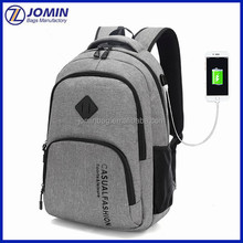Fashional laptop backpack with USB charging port power bag for <strong>school</strong>, promotion battery bag