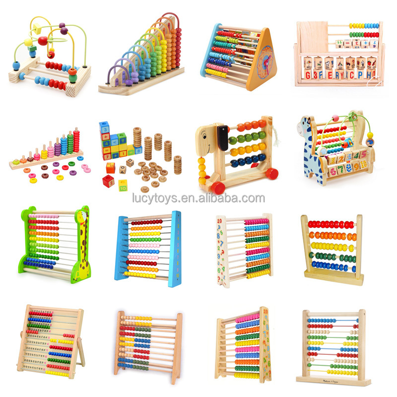 School Wooden Teacher Abacus For Kids Math Learning