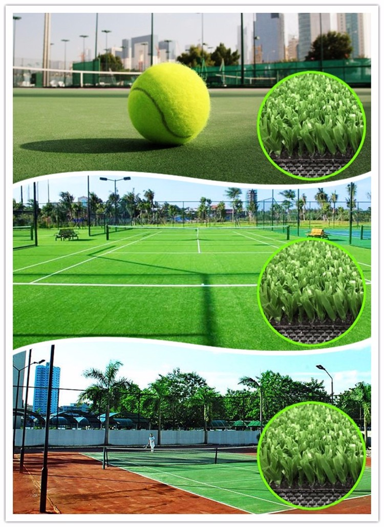 Running Track Synthetic Turf For Tennis & Basketball Court