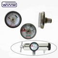 Mini oxygen pressure gauge for regulator