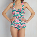 wholesale sale 2017 sexy girl printed one piece swimsuit