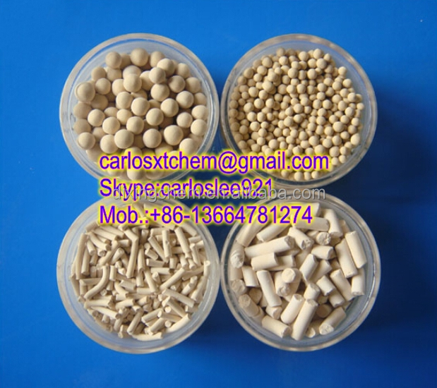 Hot selling low price Petrochemicals Adsorber 4A Molecular Sieve as desiccant / adsorbent