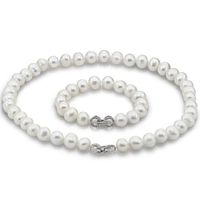 SCI043 real natural cultured freshwater traditional pearl set