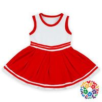 Red Color Children Frocks Designs Designer One Piece Party Dress For Baby Girls Summer Kid Dress Wholesale Price In China Yiwu