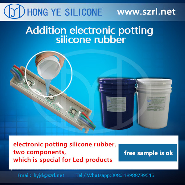 Liquid potting silicone rubber for Led /LCD/PCB with 55 shore A hardness