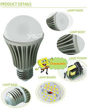 High quality 5W lamp 450lm 110-277V SMD lighting dimmable led bulb