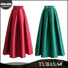 2016 latest pleated long skirt designs for women, pictures of a-line maxi skirt