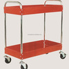 2 Trays Metal Service Cart With