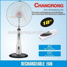 Multifunction 18'' rechargeable stand fan with battery consumption indicator