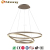 Latest design suspending light modern led chandelier for indoor