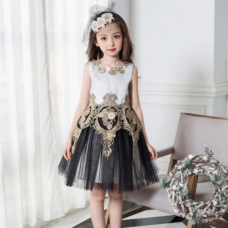 X1042 unique designer kids wear images Wholesale Low price Lovely girls dress names with pictures baby party dress