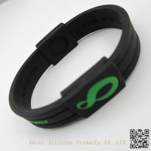 foreign strong man's first choice cheap Man's bracelet made in silicone