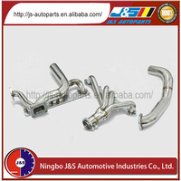 Polished stainless steel alloy material truck exhaust