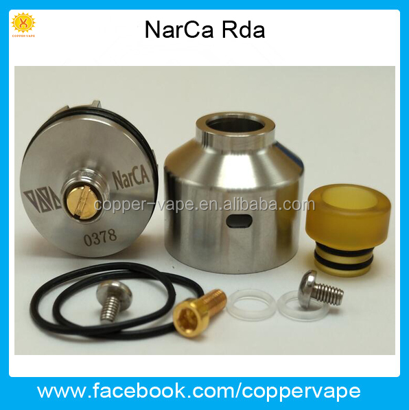 Coppervape Nov Hot NarCa rda Only 18mm slammed top cap Dual Airflow on Single Coil Narca RDA with bf pin