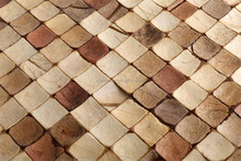 Popular Wall tile room decorative Coconut shell mosaic free sample worldwide coconut tiles