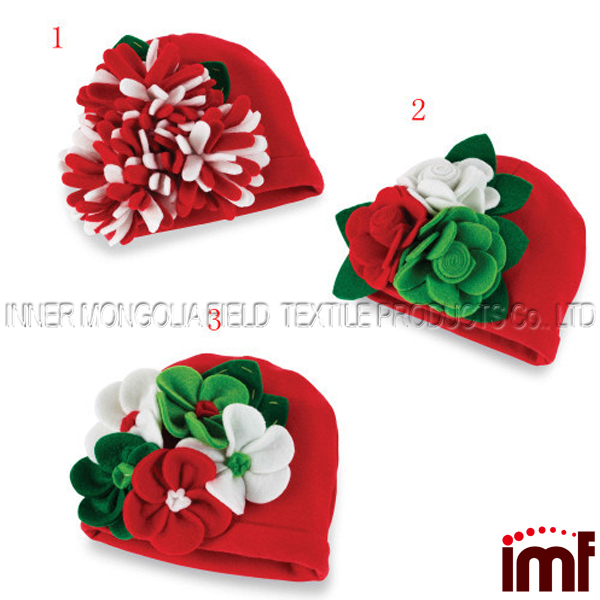 Baby Girl Infant Soft Cotton Knit Pattern Flower Hat Beanies