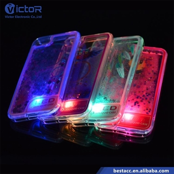 2017 New wholesale custom led light up case cell phone case for iPhone 6s