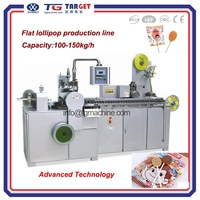 Automatic flat lollipop wrapping machine