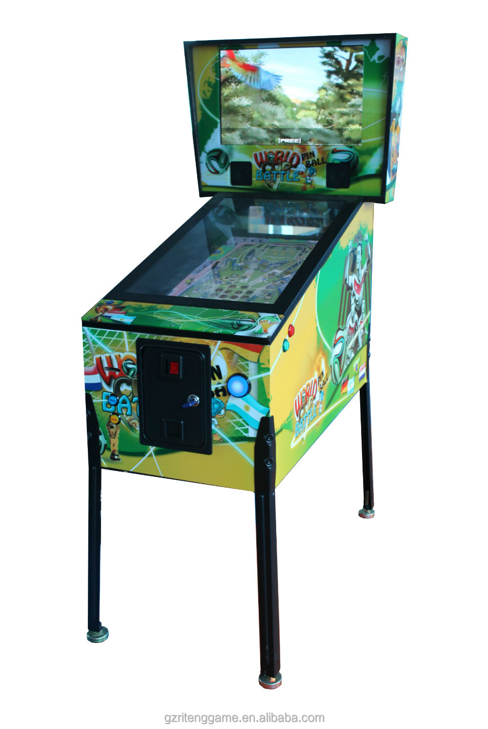 Hot sale video world cup battel pinball arcade games machines