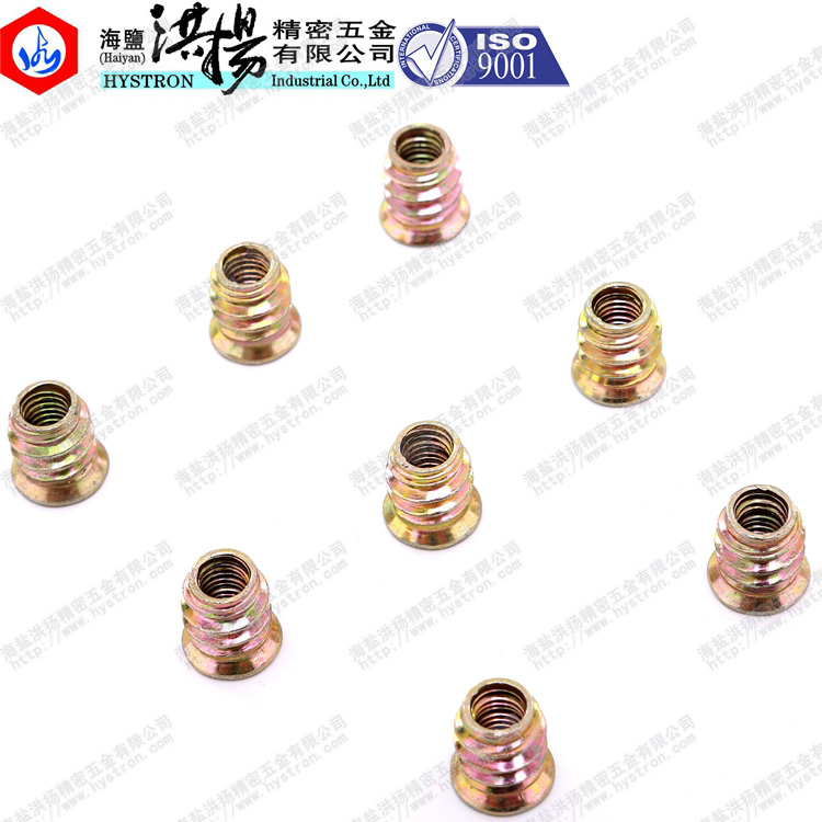 Threaded inserts for wood/plastic/metal
