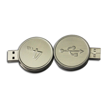 Round shape sliver coin usb flash drive 4GB usb stick mini usb