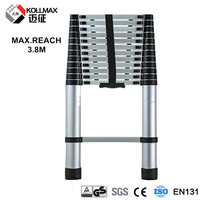 11 step Extendable Telescopic Ladder Aluminium