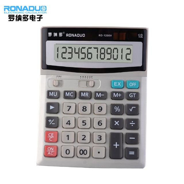 10+2 digits display office use double screen calculator 1200V solar calulator big size desktop digital calculator