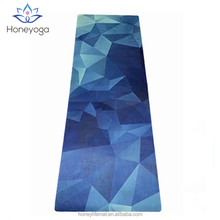High quality natural rubber microfiber suede gym yoga mat private label
