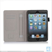 For Apple iPad Mini 2 Leather Case Smart Cover Front and Back P-IPDMINIiiCASE002