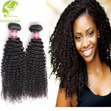 2016 New Product Factory Price 8A Grade Unprocessed Wholesale Virgin Brazilian Hair kinky curly micro loop hair extension