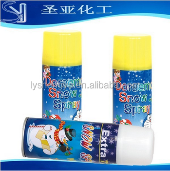 hot sale 250ml 50g white flammable flying snow foam spray bulk packing
