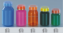 Colored New PET bottle smedicine bottle/ health care bottle cap with silver edge