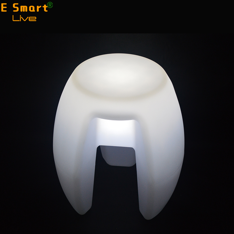 wood Factory Directly Sale led bar stool glowing led plastic chair seat for hire