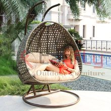 Rattan Outdoor Patio Wicker Hanging Chair Swing set for adults