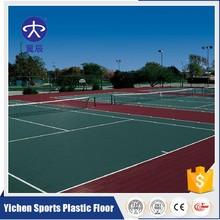 PP interlocking tiles outdoor sports court flooring