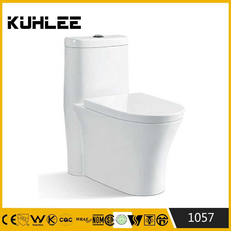 Hot sale ceramic one piece toilet siphonic one piece toilet wc 1057