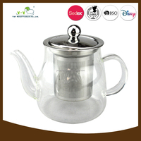 Professional commercial 500ml heat-resistant glass tea pot