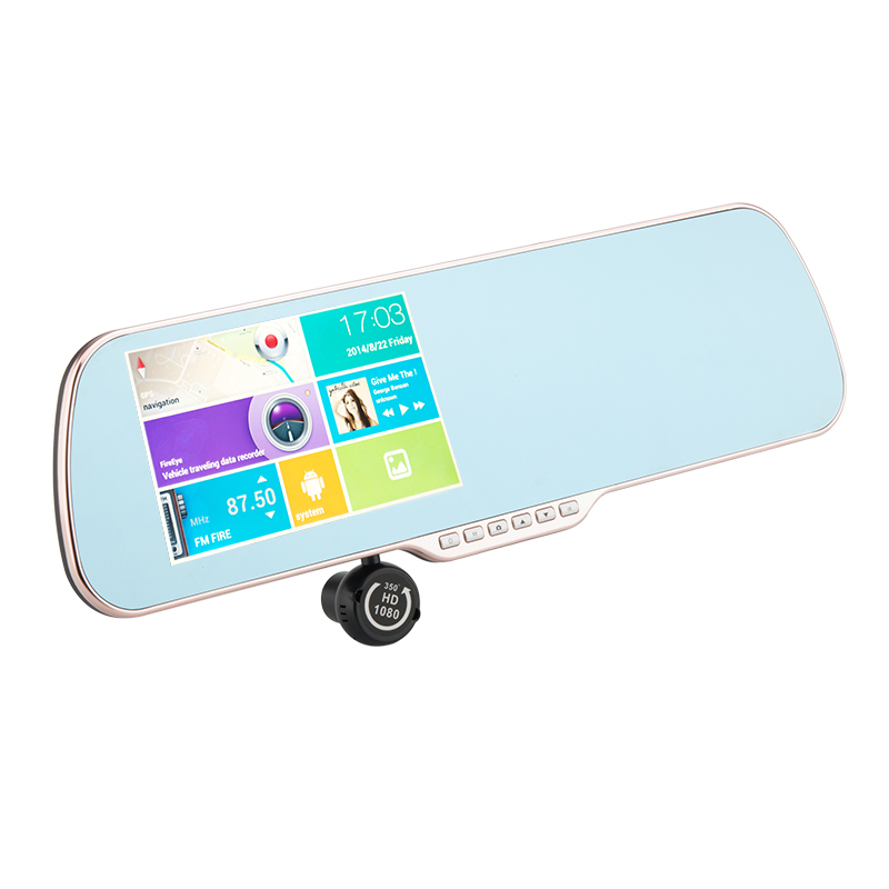 Rear View Mirror Camera With Bluetooth Optional GPS Navigation