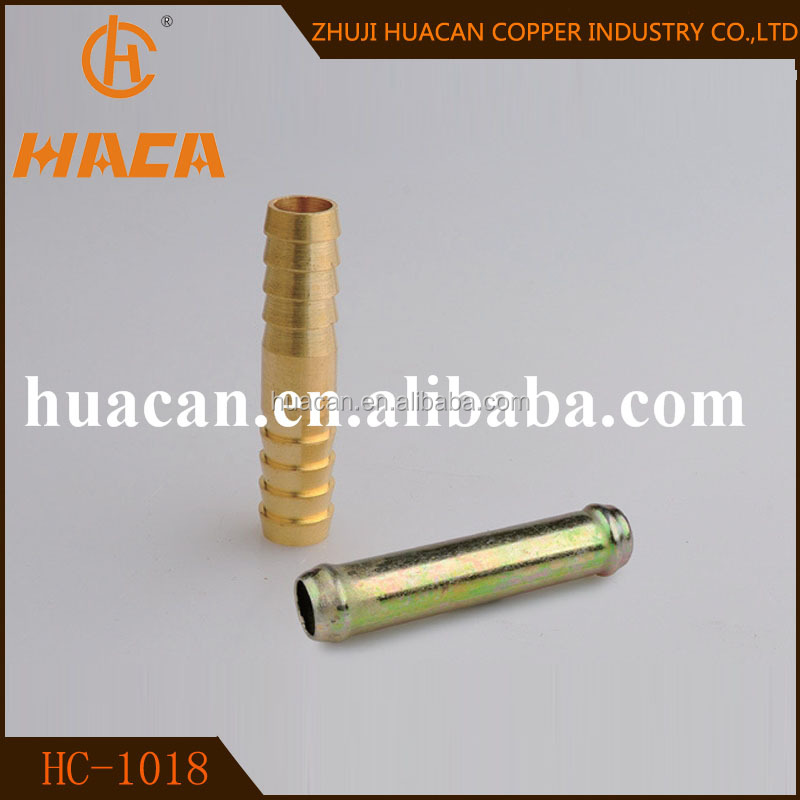 "1/8 1/4"" BARBED HOSE COUPLER ,brass fitting connector with barbed"