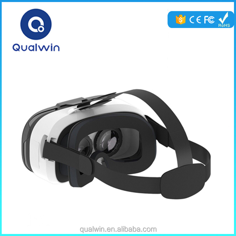 Lighter Weight Qualwin Hottest Glasses Transparent Cover VR 3d Virtual vr Reality Sex MP4 Player Video Glasses Watch 3D Movies