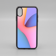 2D blank TPU sublimation rubber phone <strong>case</strong> for iPhone X with metal sheet