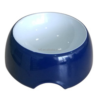 "8.9"" custom blue color ceramic dog bowl"